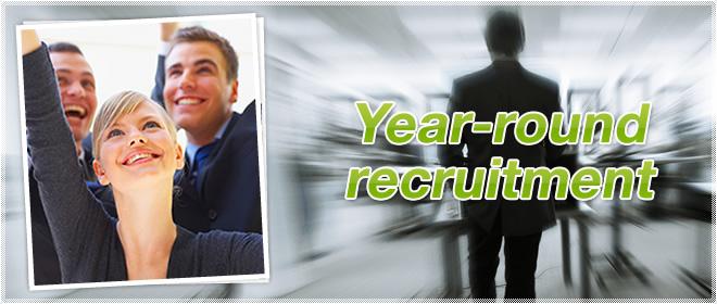 Year-round recruitment